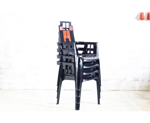 Chaises de Pierre Paulin pour Henry Massonnet 'Boston'