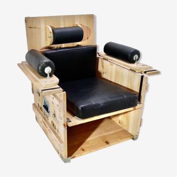 Fauteuil Cube Chair de Heinz Julen, Zermatt (Suisse) année 1994. Série Limitée et Numérotée 37/190