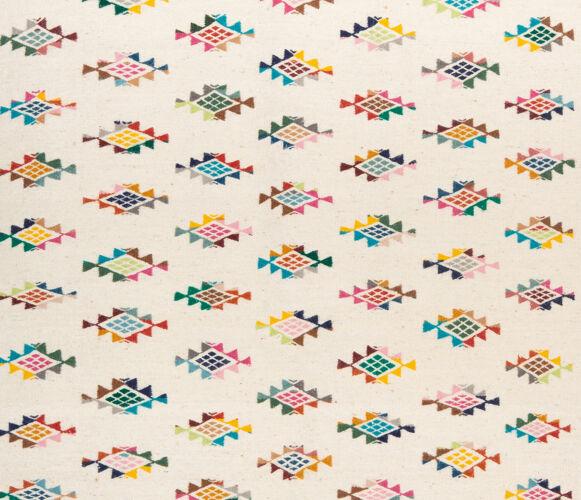 Kilim berbere avec motifs colores 150 x 100 cm