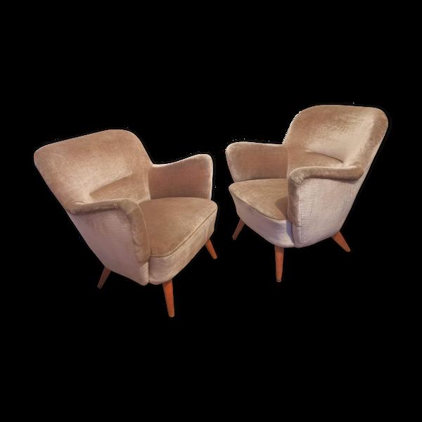Paire de fauteuils des années 50/60