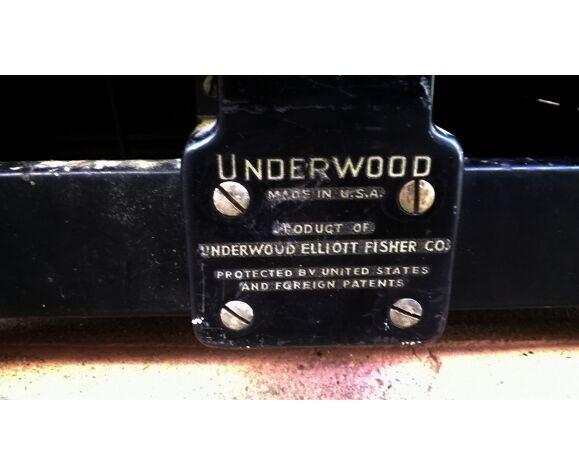 Machine a écrire ancienne Underwood