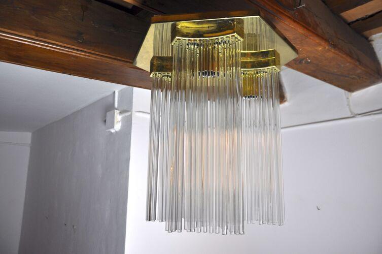 Plafonnier de la maison Sciolari Italie 1970