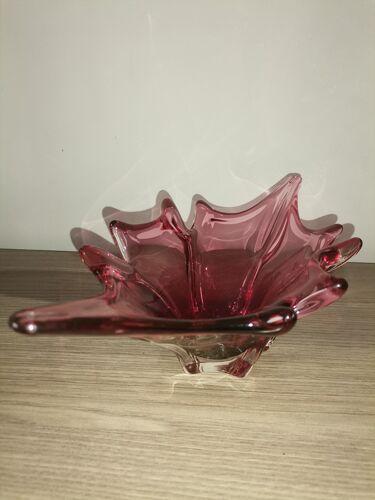 Vase murano rouge des années 60