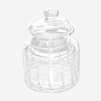 Boite de confiseur en verre taillé