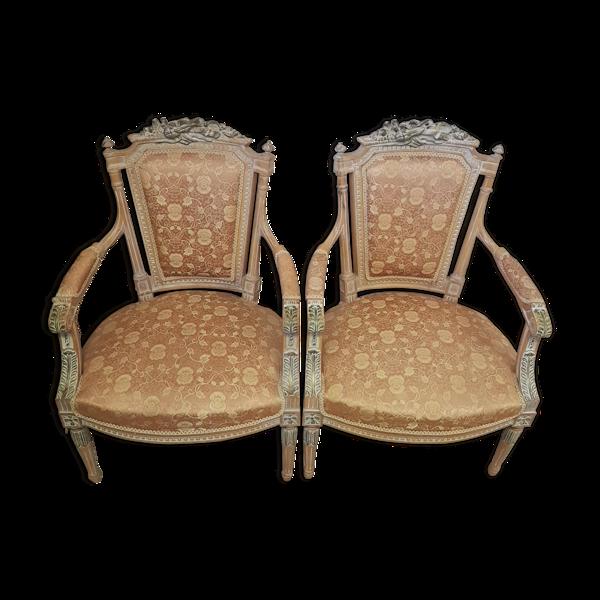2 fauteuils de style