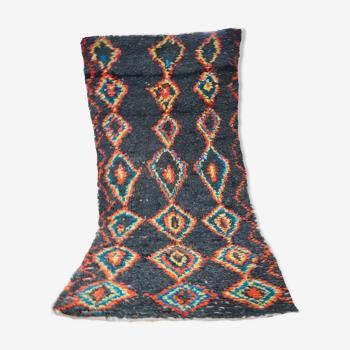 Berber carpet boucherouite 266 x 130 cm