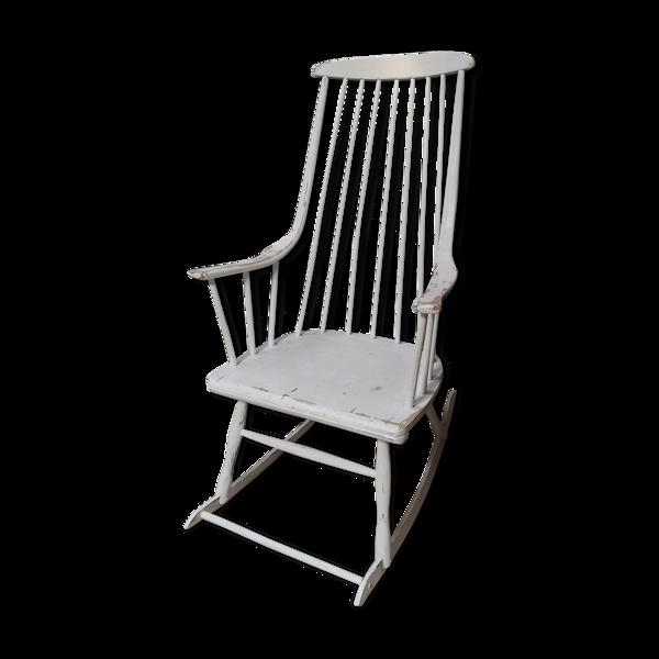 Rocking chair grandessa Lena Larsson scandinave 60 loft vintage