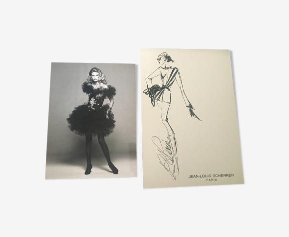 Jean-Louis Scherrer: illustration de mode & photo de presse 1992