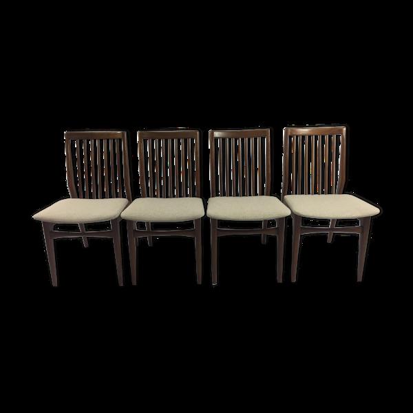 Selency Set of 4 lounge chairs in Walnut-Netherlands 1960 s