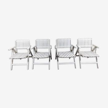 Set de 4 chaises pliantes R. Gleizes