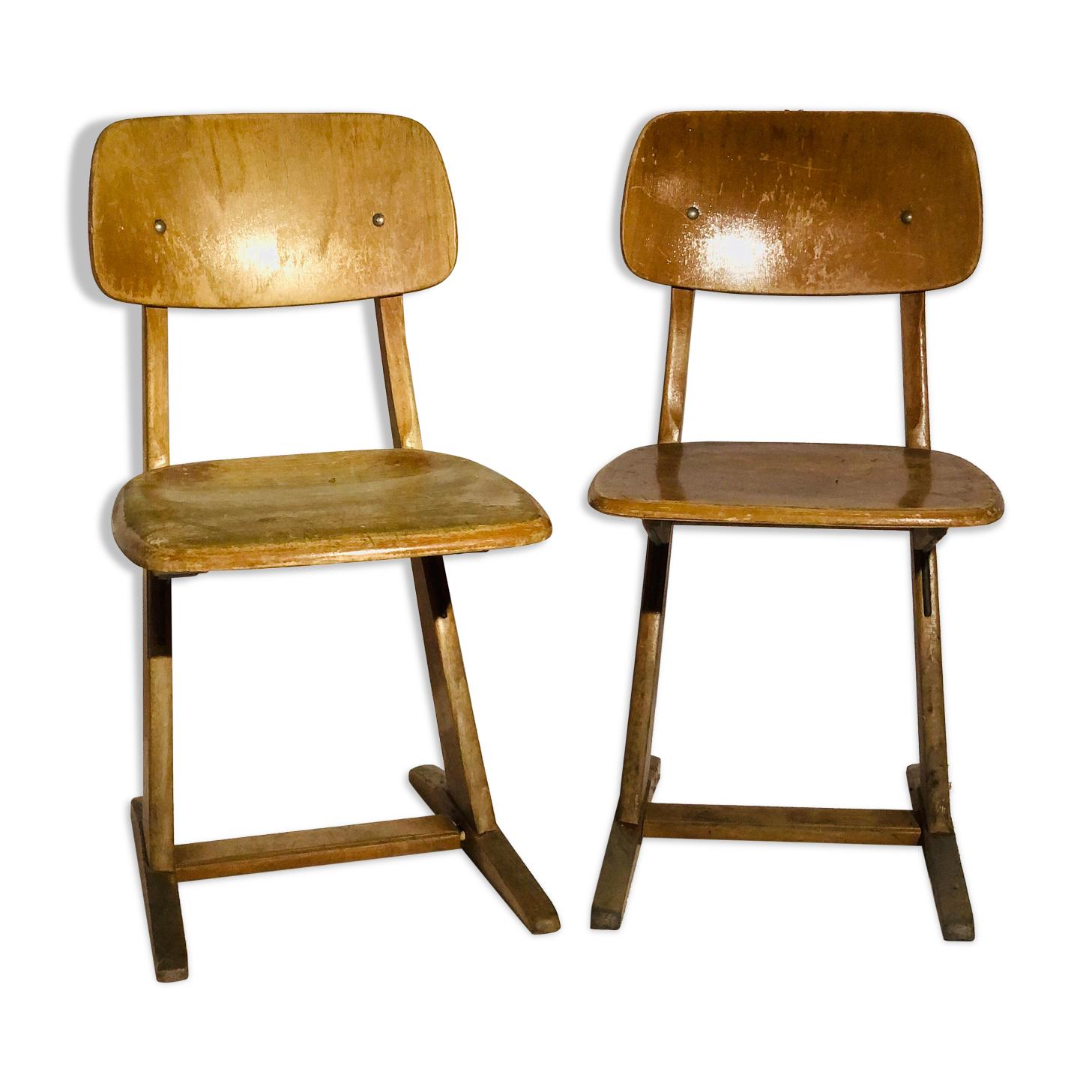 Paire de chaises scandinave vintage - Karl Nothelfer