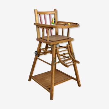 Chaise haute Baumann transformable
