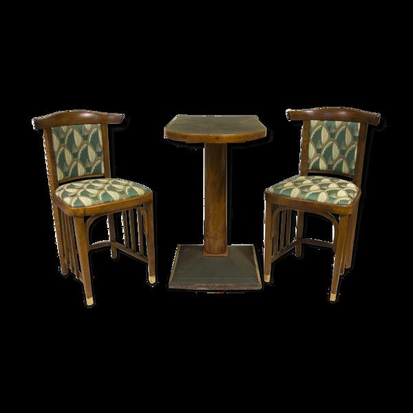 Set of antique lounge Vienna Secession 1910 s