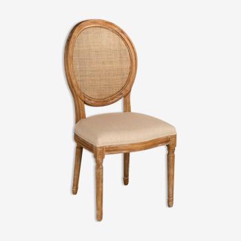 Chaise rotin beige