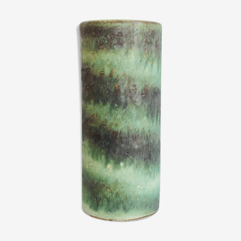 Vase cylindrique en céramique hollandaise H22 cm