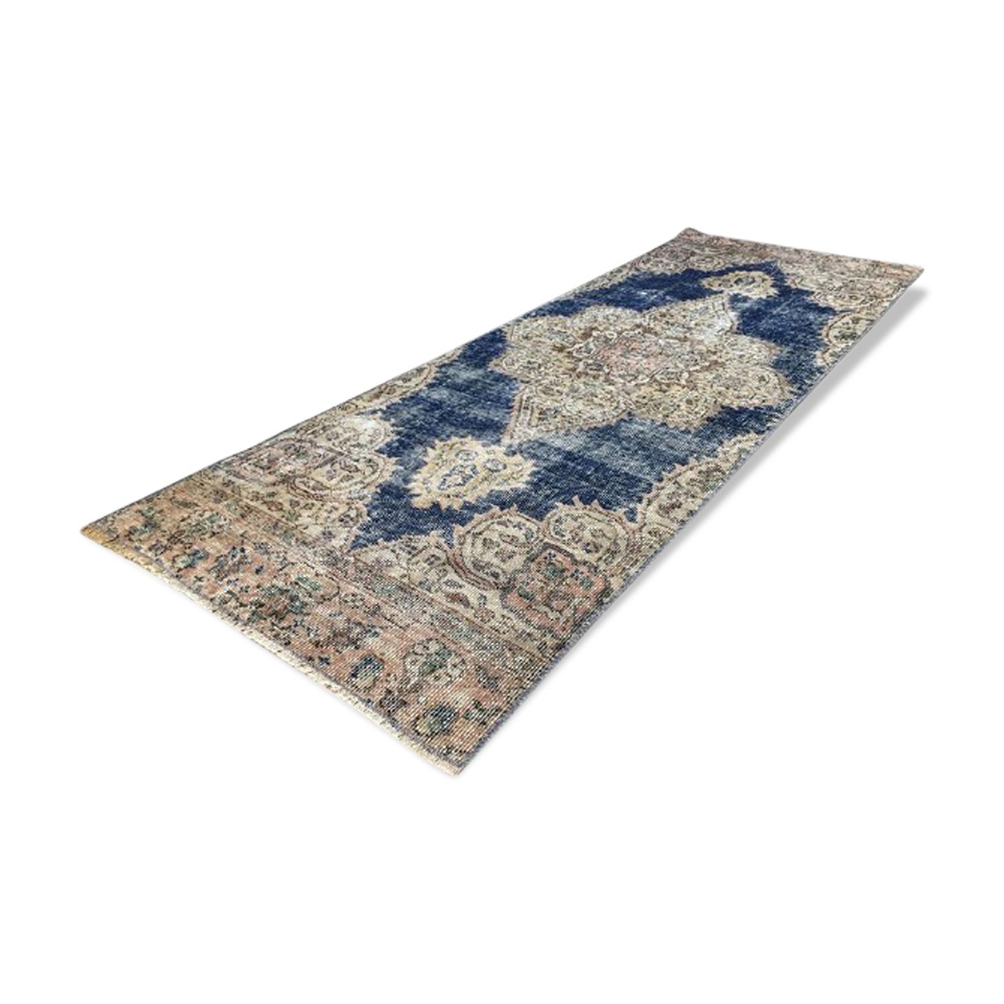 Tapis turc bleu marine 68 x 186 cm