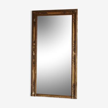 Miroir rectangulaire doré 160x85cm