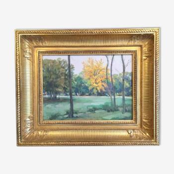 Peinture huile sur toile russe de Poustochkine signée