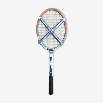 Raquette tennis montana goldseal bois avec protection métal zephyr vintage