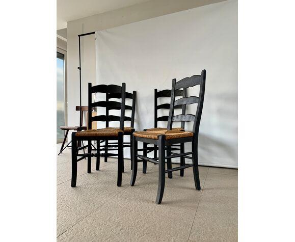 Set de 4 chaises paysanne