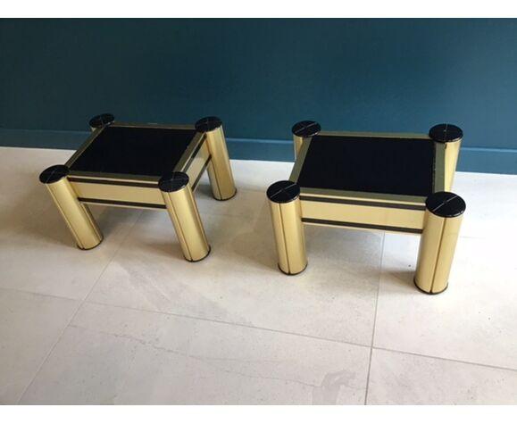 2 tables de chevet années 70