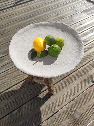 Decorative dish in Gesso