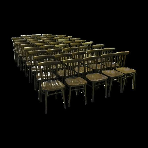 Set de 43 chaises bistrot