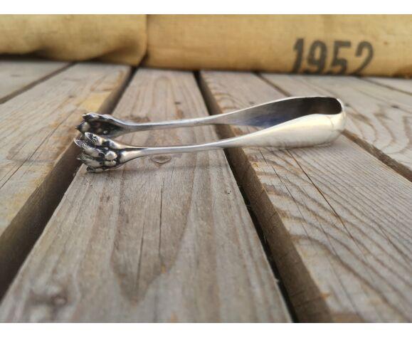 Pince à sucre en métal argenté ancienne