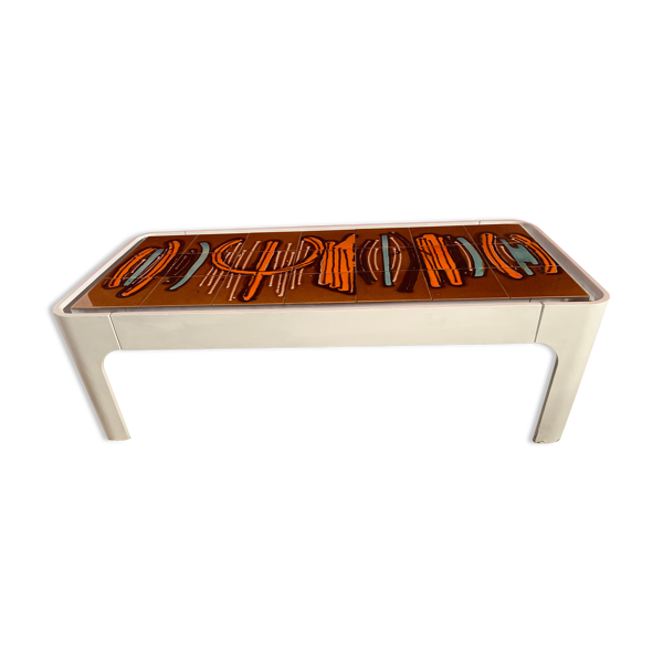 Table basse design 1970 céramique