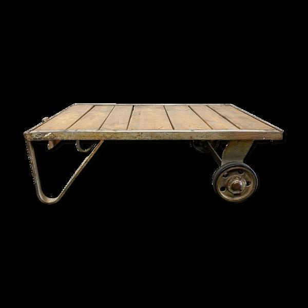 Chariot gris de table basse du milieu du siècle années 50