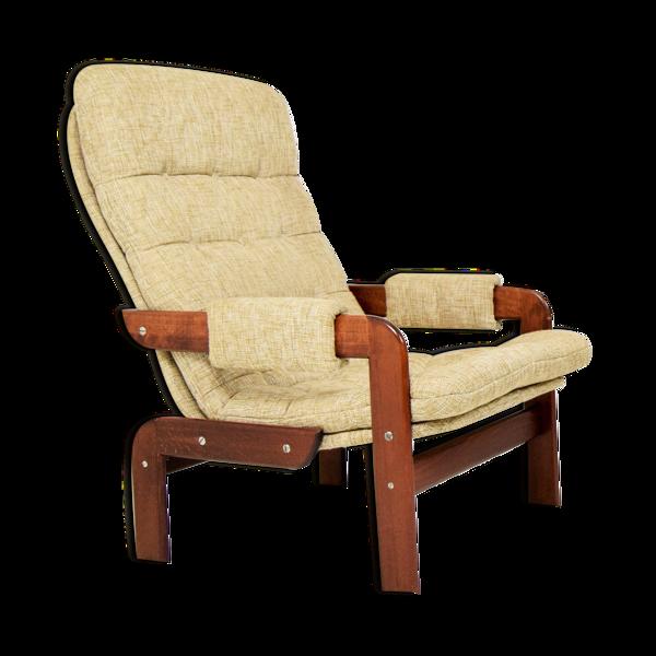 Selency Ensemble de deux fauteuils en chêne scandinave années 1970