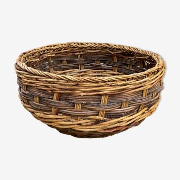 Corbeille ou cache pot en osier tressés