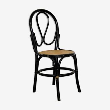 Chaise cannée et bois courbé - années 50