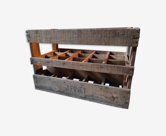 Old locker 15 vintage wooden bottles