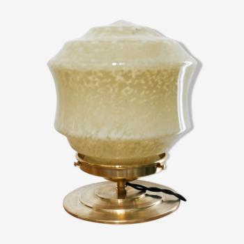 Lampe à poser vintage verre de Clichy