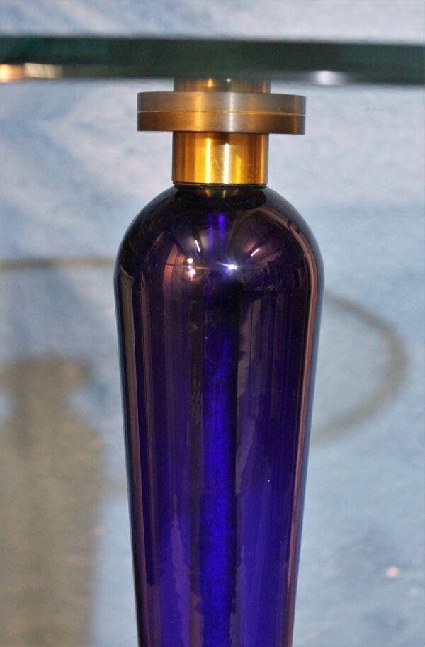 Guéridon verre Italie vintage