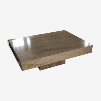 Table basse rectangulaire en travertin