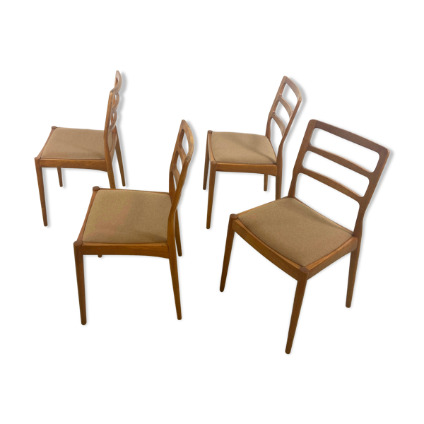 Selency Lot de 4 chaises Casala
