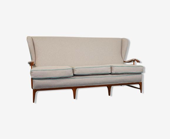 Canapé 3 places restauré design des années 50 vintage modernié