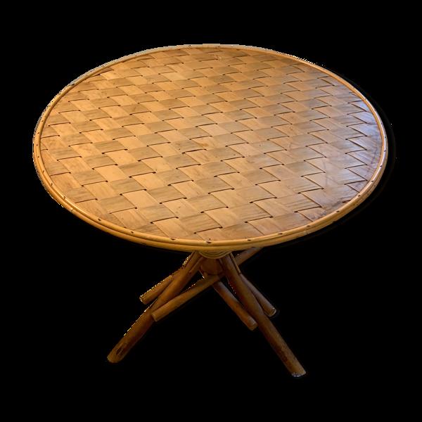 Table ronde noisetier