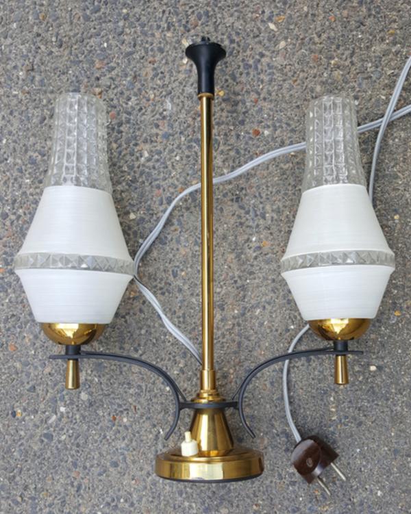Lampe à poser, double feux, années 50