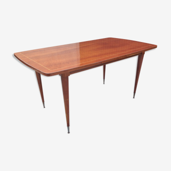 Table rectangulaire marqueterie