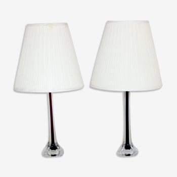 Paire de lampes de table, Flygfors, Suède, 1960