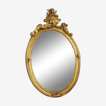 Mirror oval frame 19th style Louis XVI, 54x34.5 cm. SB149