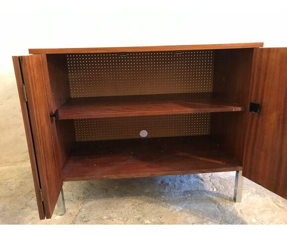 Meuble de rangement vintage 1960 à deux portes
