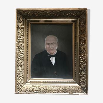 Portrait huile ancien