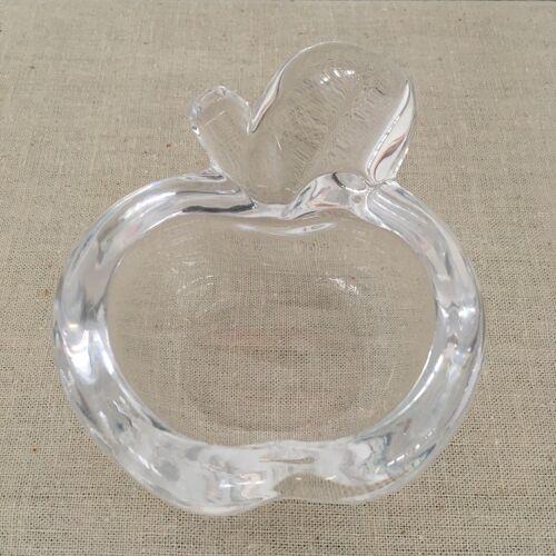 Cendrier vide poche pomme en cristal