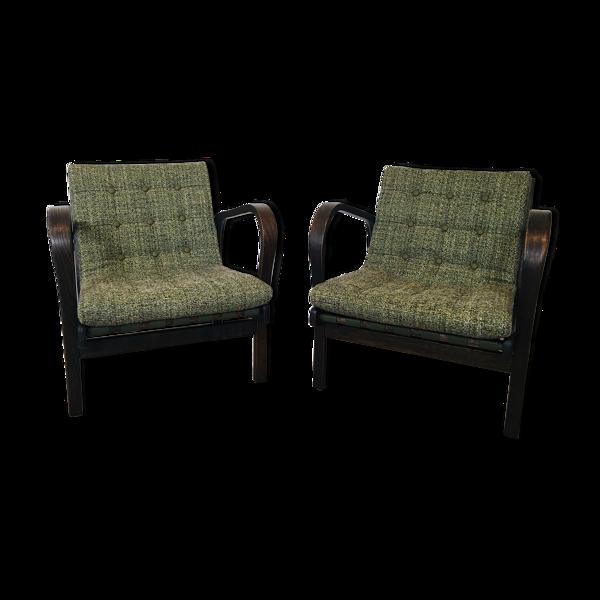 Paire de fauteuils de Karel Kozelka & Antonín Kropacek pour Interier Praha, années 1950, Ensemble de 2