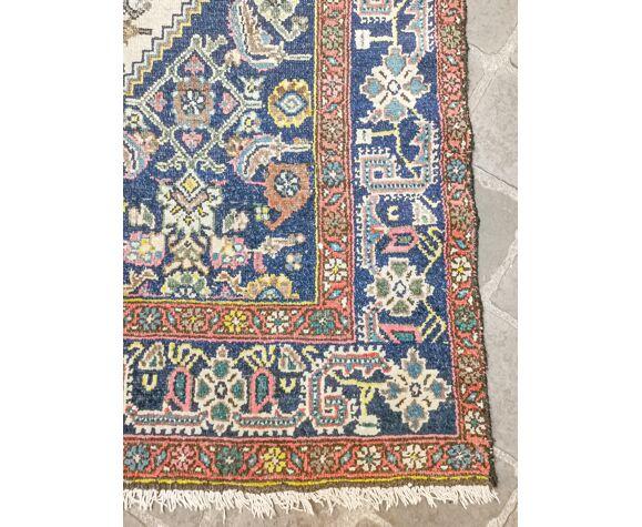 Tapis d'orient fait main vintage persan ancien Melayer 216 X 130