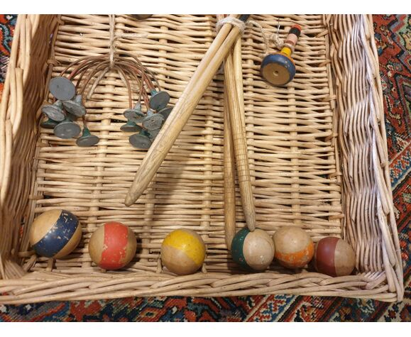 Old table croquet game